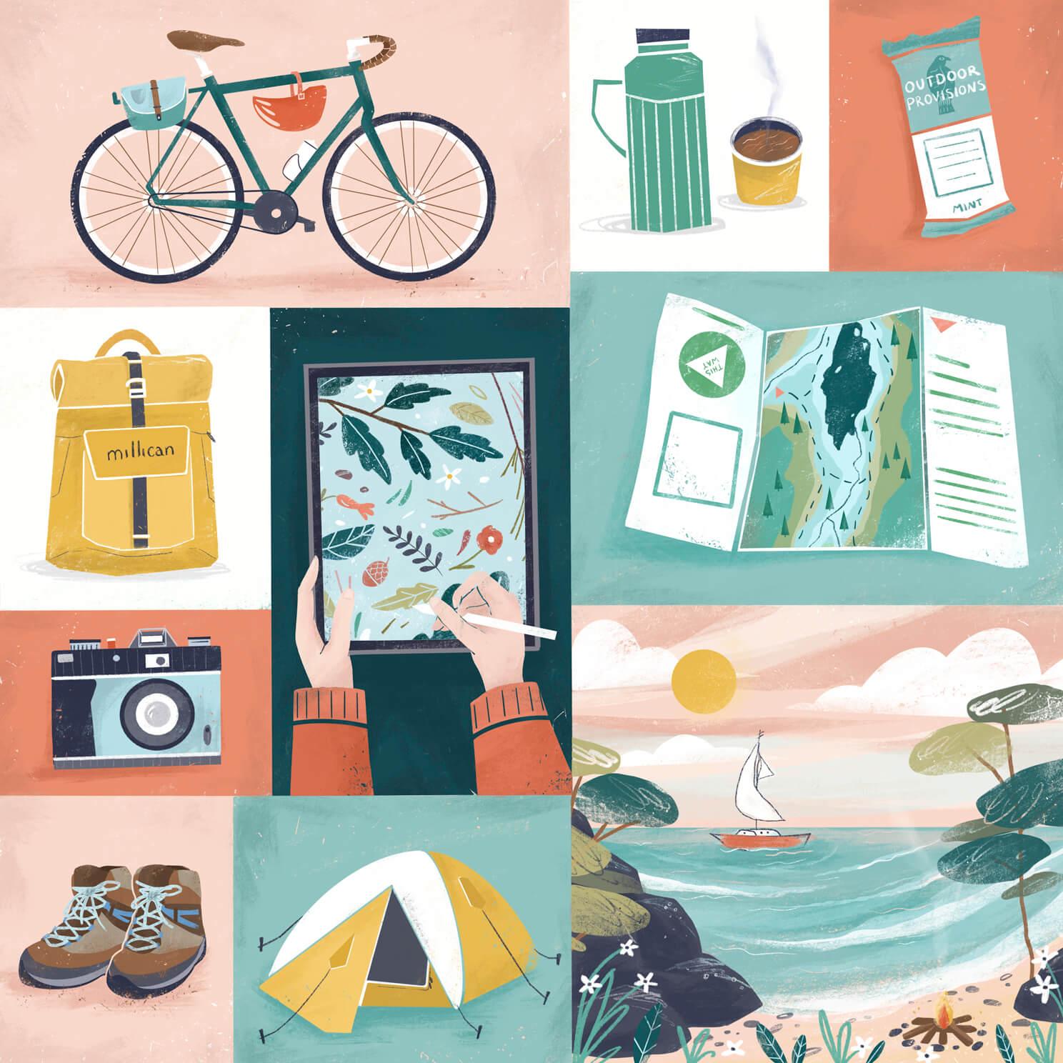 imogen' adventures with bike and millican bag